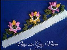 Kalem veya Halka Üzerine Yapılan Çok Beğeneceğiniz Yazma Modeli - YouTube Creative Embroidery, Hand Embroidery, Filet Crochet, Knit Crochet, Yarn Crafts, Diy Crafts, Needle Lace, Knitted Shawls, Knitting Socks