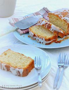 """A taste of Lancashire"" Blackpool England, Irish Sea, Loaf Cake, Cake Icing, Coffee Cake, Napkin, Folk, Plate, Photographs"