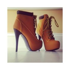 shoes high heels camel boots timberland style heels timberland heels gold tan lace up booties lace up heels lace up ankle boots high heels boots high heels timberlands beautiful boots high booties Pumps, High Heels Stilettos, High Heel Boots, Heeled Boots, Bootie Boots, Shoe Boots, Shoes Heels, Ankle Boots, Boot Heels