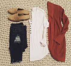 """71a594eab3737 Carly   Style•Teach•Create on Instagram  """"I dressed this cardigan up for  work today with black jeans and ankle boots, but here is how I like to wear  it on ..."""
