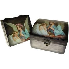 Angel Boxes - Guardian Angel with child..