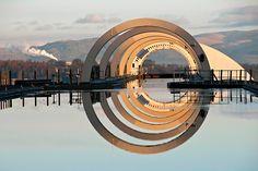 Falkirk Wheel Reflection, Falkirk, Scotland