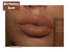 Kylie Velvet Liquid Lipstick in Birthday Suit Swatch. Click pic for full post