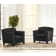 Baxton Studio Pavlov Grey Fabric Upholstered Accent Chair (Chair-Grey) (Foam)