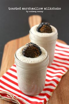 Toasted Marshmallow Milkshake by Nutmeg Nanny