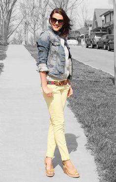 i really need a jean jacket and some yellow pantalones.