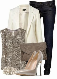 Casual Spring outfit => but with bronze/gold - Rose gold metallic colors