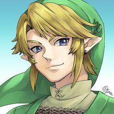 Link smiling