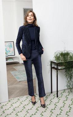 Velvet trouser suit