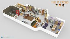 Have you ever wondered what it'd be like working at Dunder Mifflin, Pearson Hardman, Department of Parks and Recreation of the city of Pawnee? Well, you're in luck because Drawbotics has created highly detailed 3D floor plans for some of the best TV shows out there.