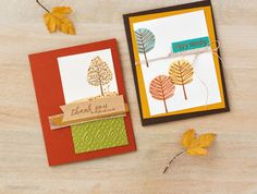Totally trees stampin up fall cards