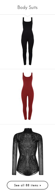 """""""Body Suits"""" by makayla-cheyane-frazier ❤ liked on Polyvore featuring jumpsuits, rompers, bodysuits, playsuits, dresses, cutout romper, playsuit romper, jump suit, cut out romper and playsuit jumpsuit"""