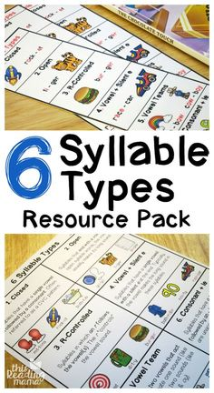 6 Syllable Types Chart and Resource Pack {FREE} - This Reading Mama