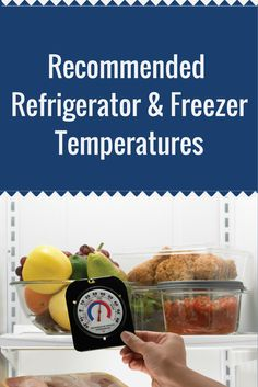 Recommended freezer and refrigerator temperatures for food safety. #NebExt