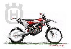 Husqvarna Dirtbike sketch by Don Cammorata, via Behance