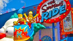The Simpson's Ride at Universal Studios Orlando - so much fun!