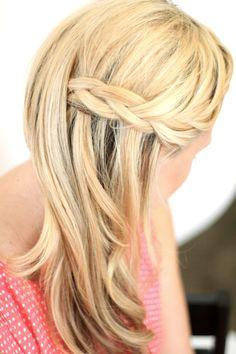 Braid #hair waterfall braid