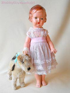 Antique German paper mache doll around 1920 by ShabbyGoesLucky