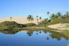 Dica de Destino. As lagoas de Jericoacoara, no Ceará, são o oitavo destino mais procurado no Brasil. Foto: Jericoacoara Turismo.