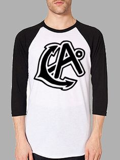 Black/White CA Anchor Unisex Baseball Tee