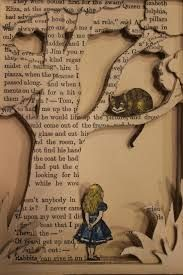 I love things like this. I also like how Alice and the cat have colour to them to make them stand out.