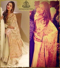 #MalaikaAroraKhan celebrated Eid in an heirloom ivory ghagra with a stunning dupatta restored from the royal family of Punjab by us