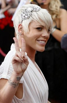 Pink short cut with longer front