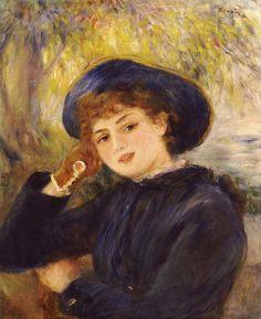 Portrait of Mademoiselle Demarsy - Pierre-Auguste Renoir