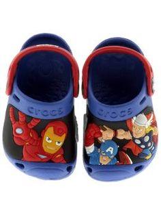 Marvel Super Hero Squad Crocs. Oh Yeah, they'll loooooooove these.