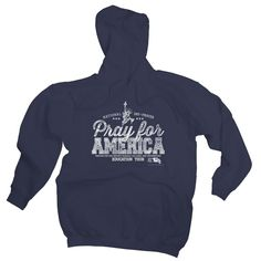 Pray For America Hooded Sweatshirt - Navy
