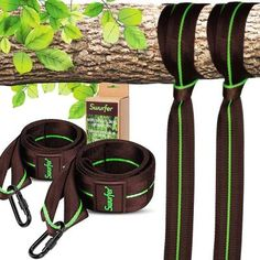 The Swurfer Tree Swing Straps is a quick and easy way to hang your Swurfer so you're up and Swurfing in no time. The Swurfer Tree Hanging Strap Kit is designed to safely and securely hang any tree swing