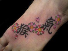 Foot tattoo flower tattoo kanji tattoo | Flickr - Photo Sharing!