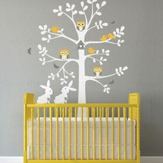 Tree Wall Decal with Animals