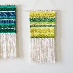 Woven Wall Hanging Yellow Weaving by UnrulyEdges on Etsy Tapestry Weaving, Loom Weaving, Hand Weaving, Ashford Loom, Weaving Wall Hanging, Idee Diy, Tear, Weaving Techniques, Fabric Manipulation