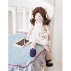 Polly the Dolly Toy Knitting Pattern Download