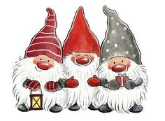 Christmas Rock Gnome Cards Gnomes Canvas Paintings Ideas Inspirational Quotes Crafts Yule