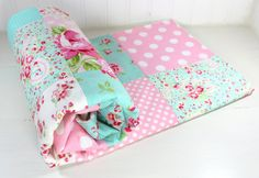 Baby Blanket Patchwork Blanket Girl Blanket by theredpistachio