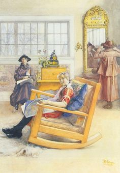 The New Hat ~ Carl Larsson ~ (Swedish: 1853-1919)