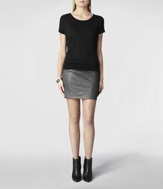 Womens Luso Dress (Black/Charcoal)   ALLSAINTS.com