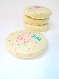 "Bubble Bath Cookies - Solid Bubble Bar -  Fizzy Bath Bombs in ""Sugar Cookie"" Scent"
