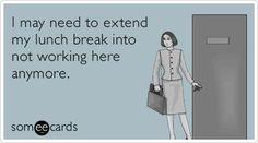 Lunch Break vs. Work At All