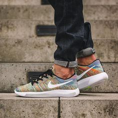 half off bd978 3adb4 The Nike LunarEpic Low Flyknit Multi-Color releases on Aug With a flexible,  breathable Flyknit upper