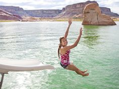 Set among the red rocks, Lake Powell is perfect for water sports and cruising around coves in your boat.