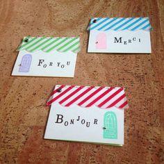maison(フランス語で「家」)の形をしたメッセージカードです☆*:.。. 誰かのお家を楽しく訪ねている様なイメージで制作しました☆*:.。.文字や自作のド...|ハンドメイド、手作り、手仕事品の通販・販売・購入ならCreema。
