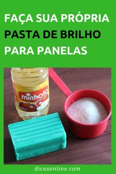 Pasta de Brilho Caseiro - Para Panelas Bathroom Cleaning Hacks, Toilet Cleaning, Dishwashing Gloves, Room Design Bedroom, Spring Cleaning List, Diy Tops, Wash Brush, Clean Microfiber, Food Grade