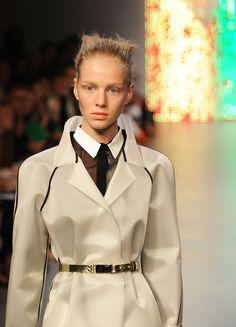 Golden Metallic Belt Trend forSpring Summer 2013.  AntipodiumSpring Summer 2013.   #Fashion  #Accessory #Trends