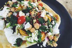Middle Eastern Vegetarian Pita Sandwich