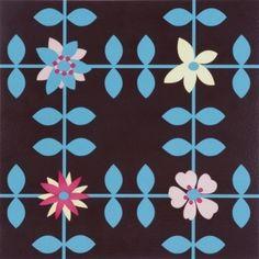 ATW - Dalle de sol PVC auto-adhésive décor imprimé vintage, ROSE MARY
