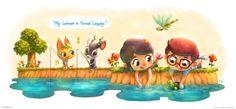 My Summer in Animal Crossing.