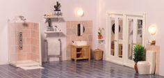 1/12 scale miniature furniture  Dolls' House Bathrooms - A thoroughly modern bathroom